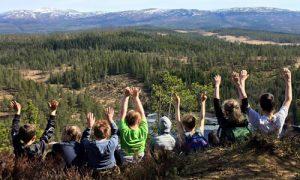 fjelltur med barn nær Steinkjer