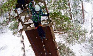 Klatrepark med zipline på Steinkjer